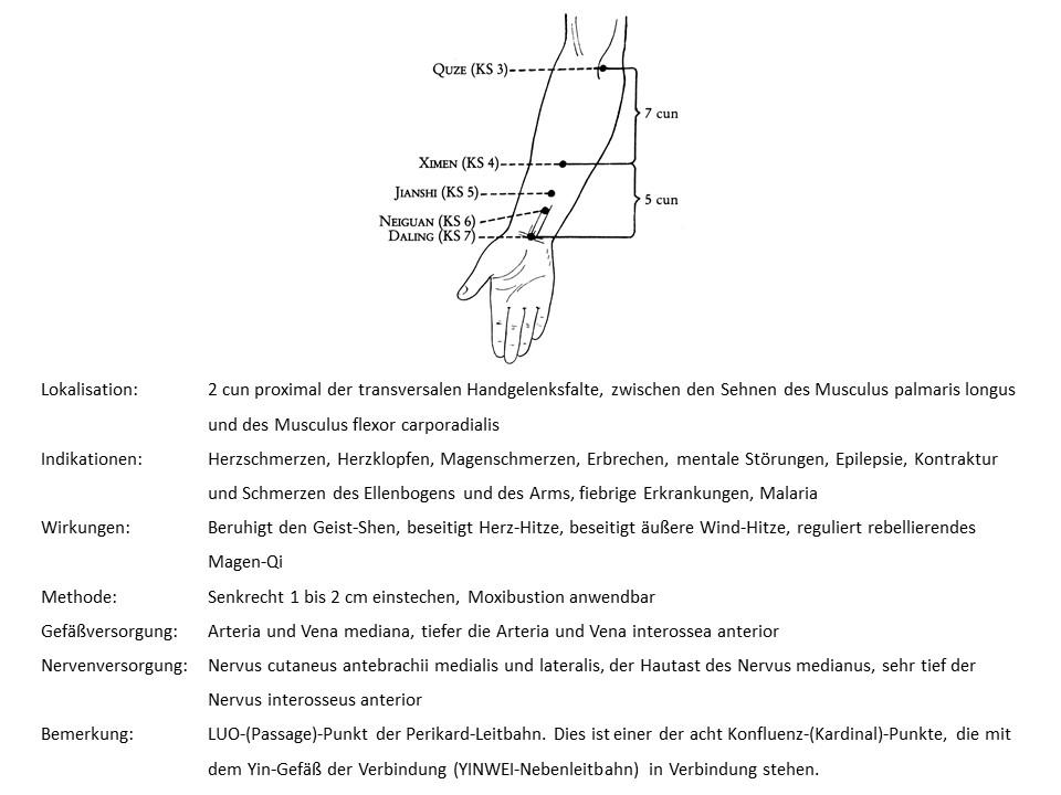Akupunkturpunkt Perikard 6