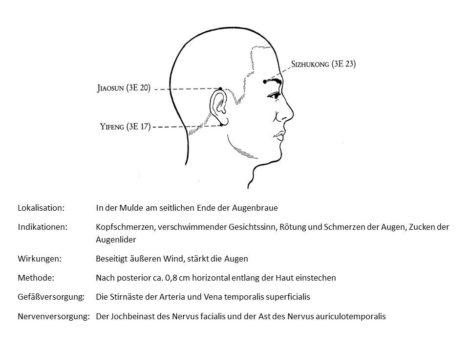 Akupunkturpunkt 3Erwärmer 23