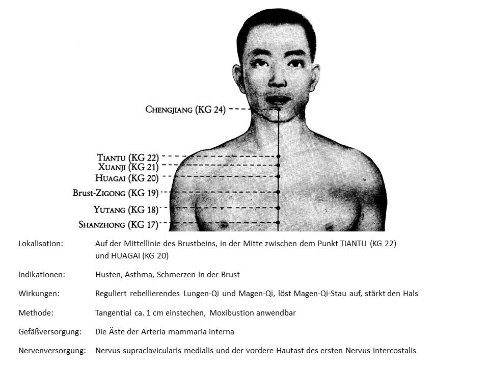 Akupunkturpunkt Konzeptionsgefäß 21