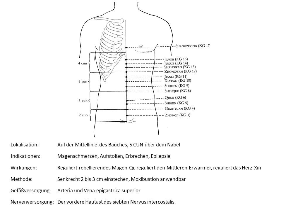 Akupunkturpunkt Konzeptionsgefäß 13