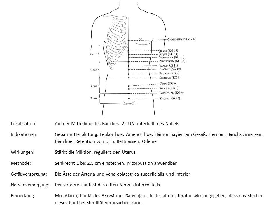 Akupunkturpunkt Konzeptionsgefäß 5