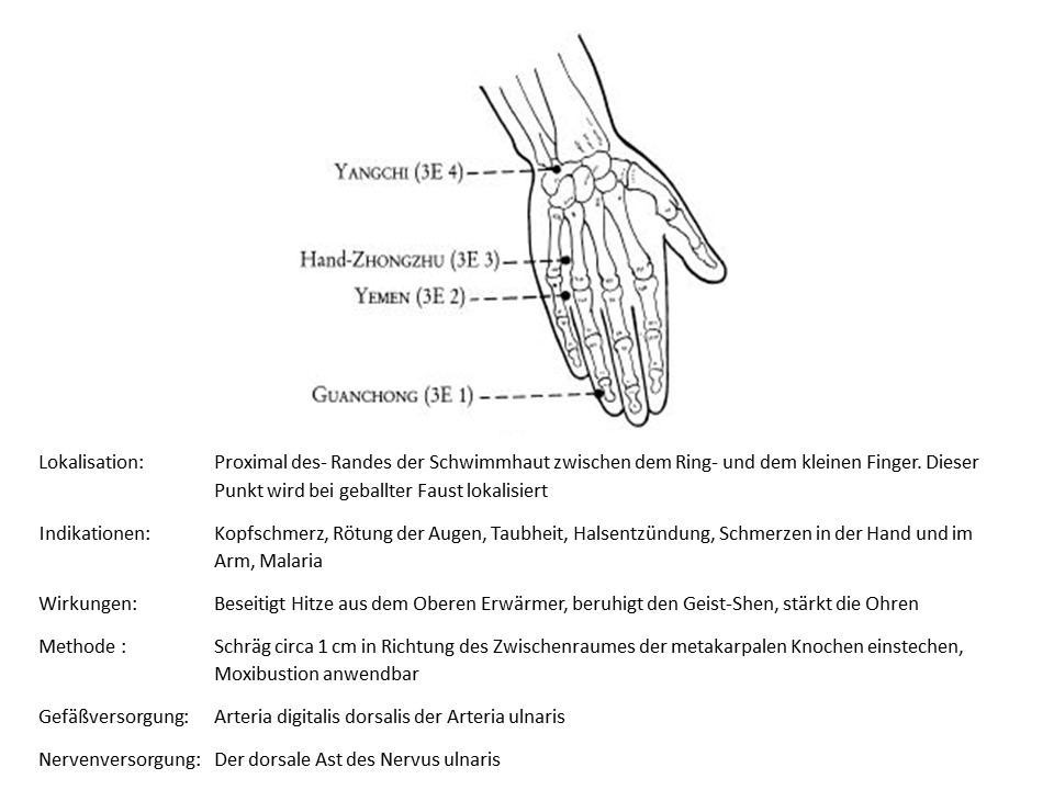 Akupunkturpunkt 3ERwärmer 2