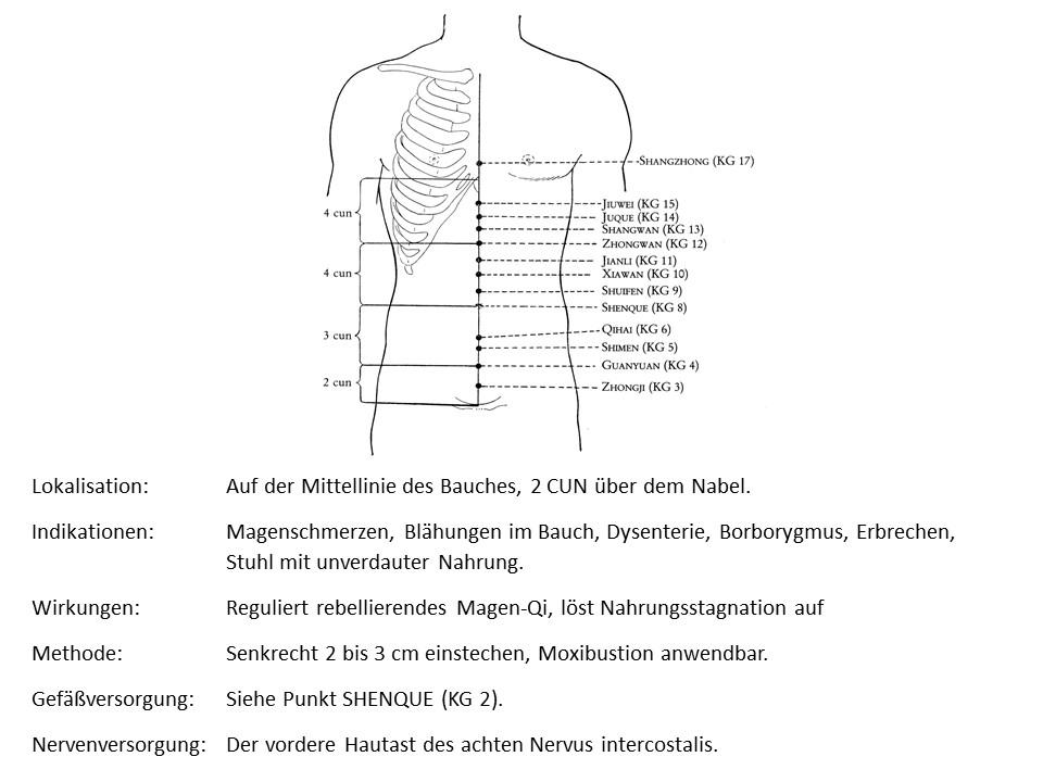 Akupunkturpunkt Konzeptionsgefäß 10